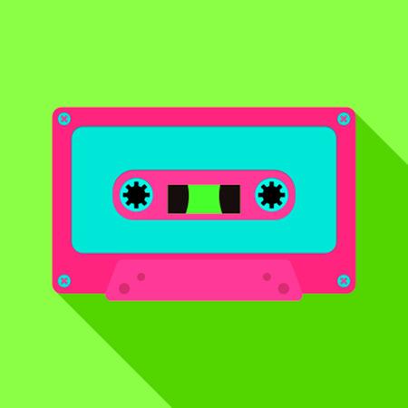 80 年代のレトロなスタイルのオーディオ ・ カセット テープ