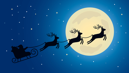 Verwonderlijk Kerstman Op Slee En Zijn Rendieren Geïsoleerd Op Witte Achtergrond CQ-65