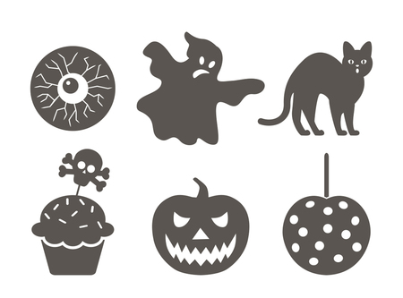 Set of flat icons on a theme of Halloween