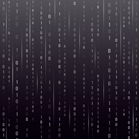 Abstract techno background. Binary code of the computer.