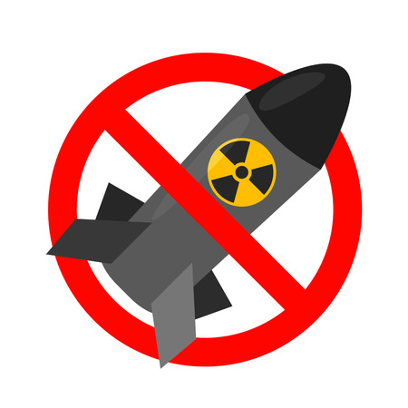 No bomb sign on white background