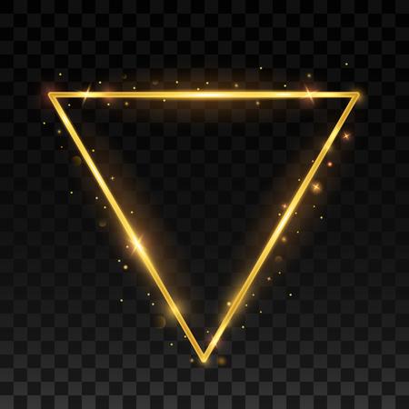 swirl: Golden triangular shiny frame