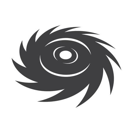 swirl: Icon of a hurricane or a tornado.
