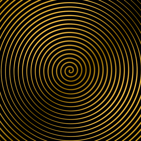 swirl: Vector illustration of a spiral with golden rays, twirl, twisted effect, vortex backgrounds