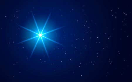 베들레헴의 별이 반짝입니다. 일러스트