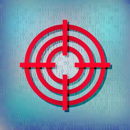 simple: Icon of the target on a modern techno background.