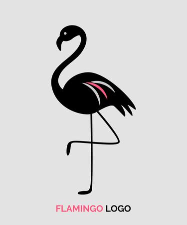 Flamingo logo for business.