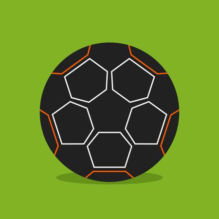 Football soccer ball icon. Illustration