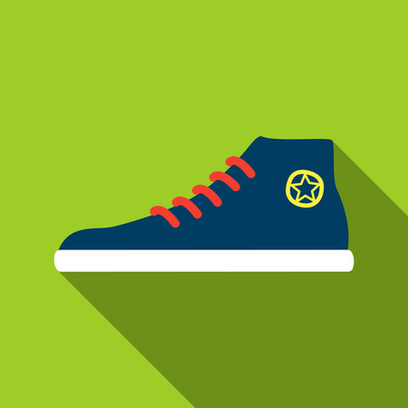 fitness equipment: Youth shoes. Sneakers icon Illustration