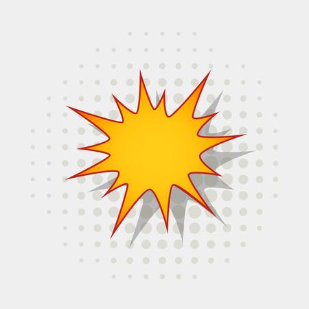 Bang speech bubble. Explosive exclamation comic sign