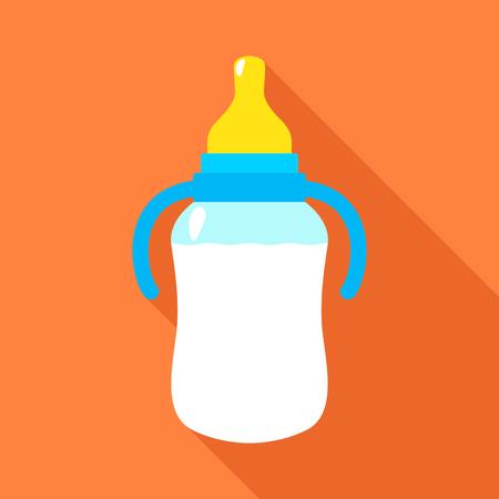 Baby flesje. Vector illustratie Stock Illustratie