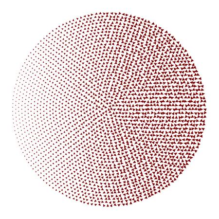 Abstract circle semitone. Flat vector
