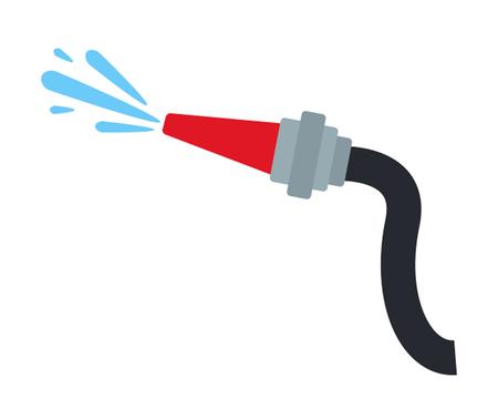 Icône de tuyau d'incendie dans un style plat.