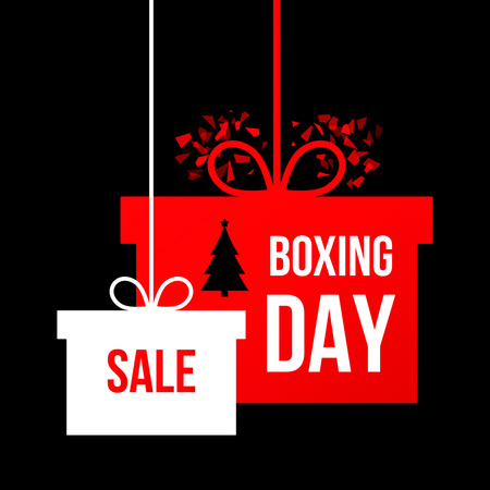 Boxing day a poster in a modern style. flat vector illustration