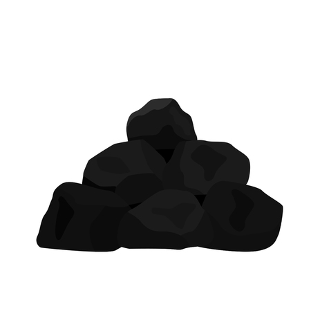 Pile of charcoal. vector illustration Stock Illustratie