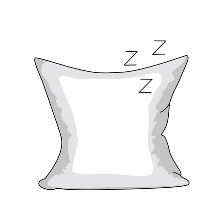 white pillow in a linear style. icon in a flat style isolated on a white background