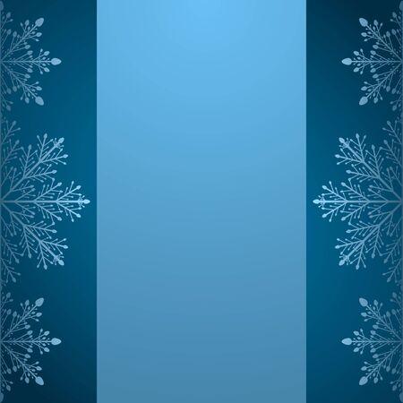 空のクリスマス カード、サンタへの手紙。パンフレット テンプレートや招待状雪の結晶。ベクトルの図。 写真素材