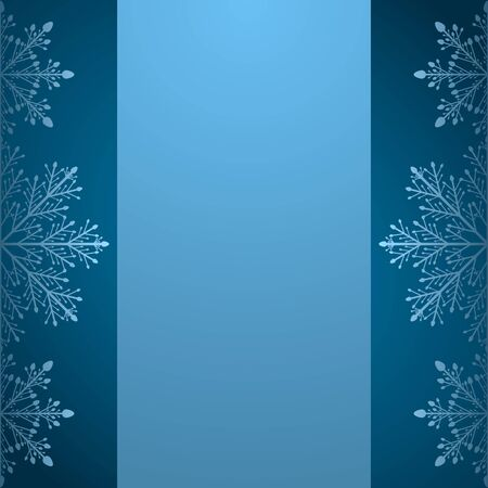 Blank Christmas card or a letter to Santa. a brochure template or invitations with snowflakes. Vector illustration.