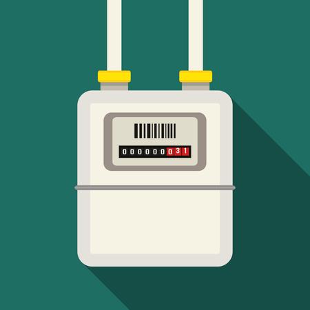 Gas meter. flat vector illustration.