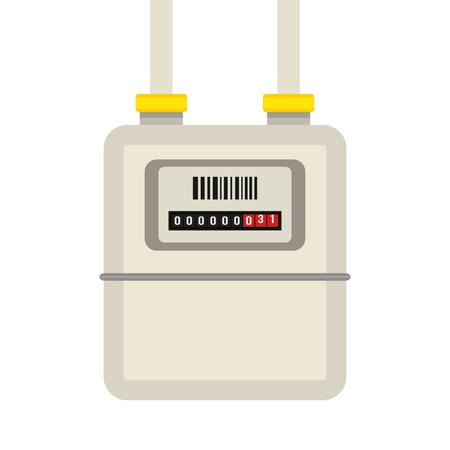 Gas meter. platte vectorillustratie Stockfoto - 91297859