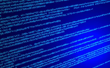 Software  Web Developer Programming Code. Vector Illustration.