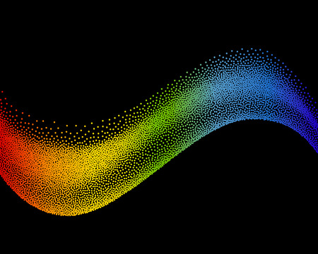 Abstract wave in halftone style. vector illustration isolated illustration
