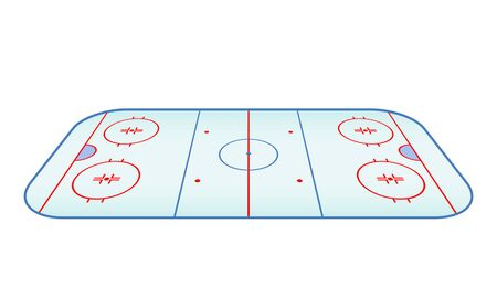Hockey board game on black and white background