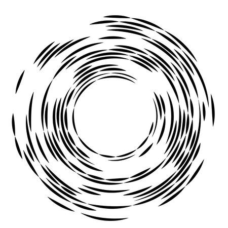 Concentric rotating circular geometric figure of a tornado or vortex. vector illustration isolated.