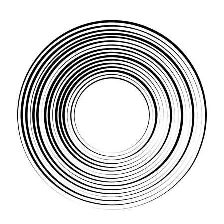 Concentric rotating circular geometric figure of a tornado or vortex. vector illustration isolated. Stock Vector - 100021137