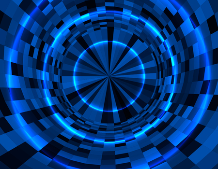 Abstract techno background in modern digital style. Business background in perspective. vector illustration Ilustração