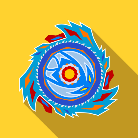 Collective image of a children's popular toy Beyblade. icon in a flat style. vector illustration isolated on white background