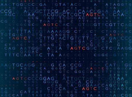 DNA sequencing by the formula AGTC. modern medical background. vector illustration Reklamní fotografie - 104347060