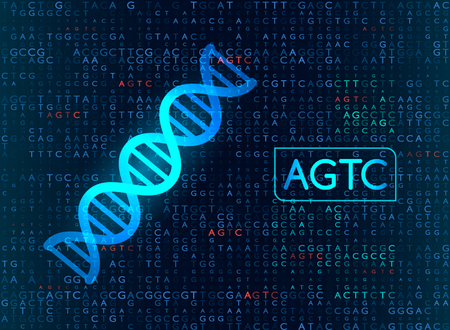 DNA sequencing by the formula AGTC. modern medical background. vector illustration Stock fotó - 104347063