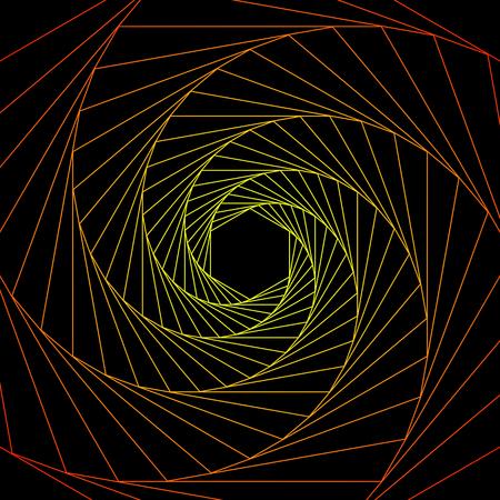 Figure psychédélique géométrique en spirale. illusion d'optique. illustration vectorielle plane Vecteurs