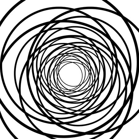 modèle abstrait d'une figure stylisée. fond noir et blanc