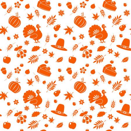Seamless autumn pattern for Thanksgiving. flat vector illustration