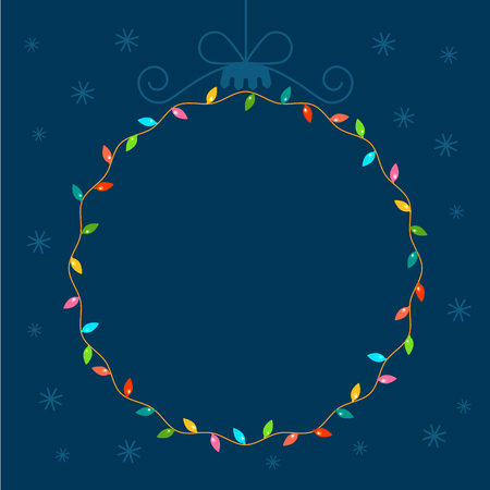 Christmas garland in the shape of a Christmas ball. vector illustration with space for text.