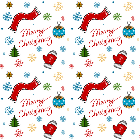 seamless pattern for winter and christmas holidays.