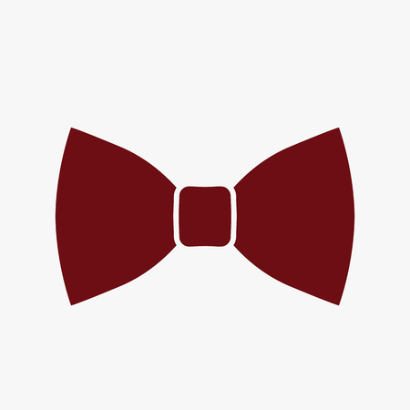 Modern stylish bow tie. icon in flat style isolated on white background 일러스트