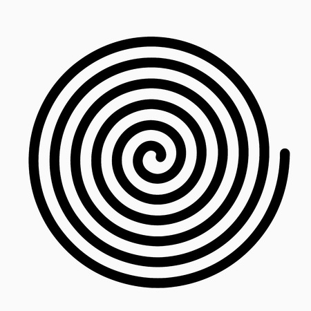 psychedelic figure of a spiral, circulation. flat vector illustration Vektorové ilustrace