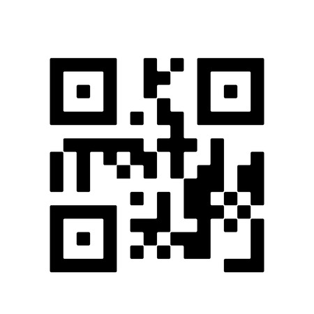 QR code icon on white background. QR code symbol, sign. Vector illustrationisolated on white background
