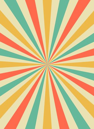 Sunrise sun rays in retro starburst style. Background template for circus posters. flat vector illustration.