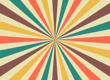 Sunrise sun rays in retro starburst style. Background template for circus posters. flat vector illustration
