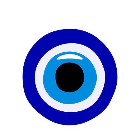 Turkish Amulet against the evil eye from glass. flat vector illustration
