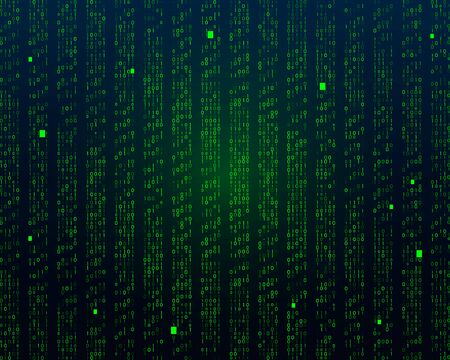 A stream of binary matrix code on the screen. numbers of the computer matrix. Banque d'images - 129771958