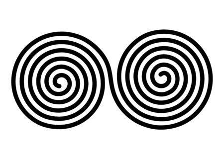 Doble hélice de Arquímedes. símbolo decorativo simple. ilustración vectorial plana Ilustración de vector