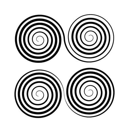 Archimedean double helix. simple decorative symbol. flat vector illustration  イラスト・ベクター素材