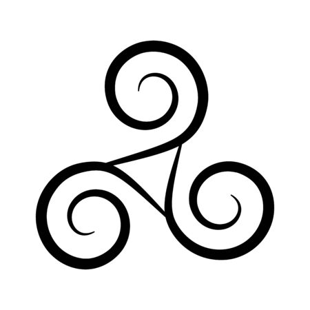 Triskelion symbol icon. Breton and Celtic spiral. flat vector illustration
