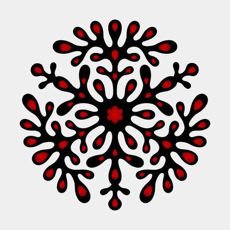 Decorative vintage element of ethnic Slavic design. flat vector illustration template Illustration