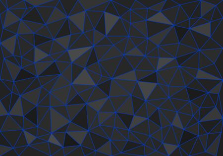 low poly geometric background of colored triangles of different sizes and colors